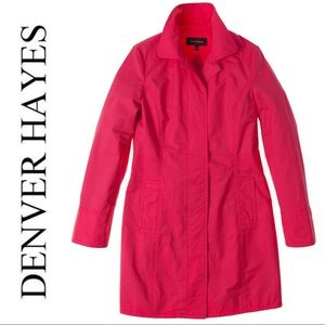 Denver Hayes Trench Coat Coral Water Repellent